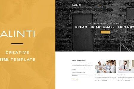 Alinti - Minimal HTML Portfolio
