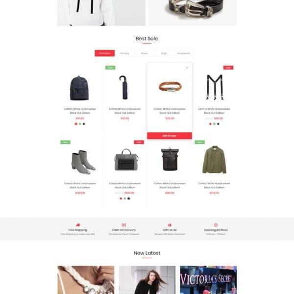 Minimalist eCommerce HTML Template