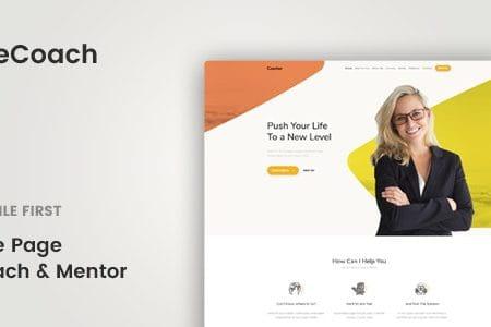 LifeCoach - Coach, Speaker & Mentor Template