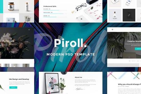 Piroll — Minimal and Modern Portfolio HTML Templat