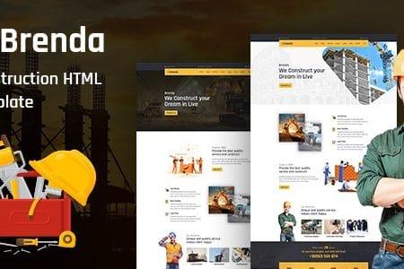 Brenda – Construction HTML5 Template