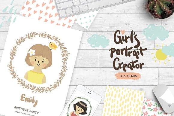 Girls portrait creator (Turbo Premium Space)