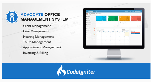 Full Advocate Office Management System