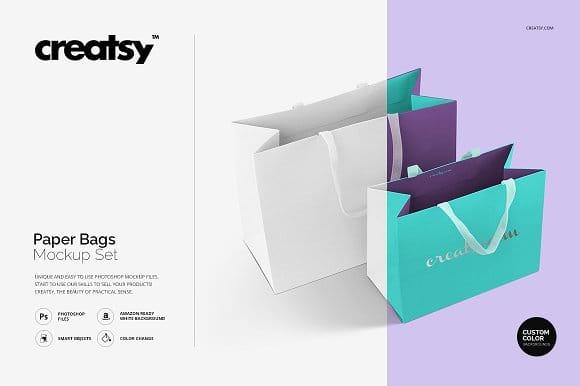 Paper Bags Mockup Set (Turbo Premium Space)