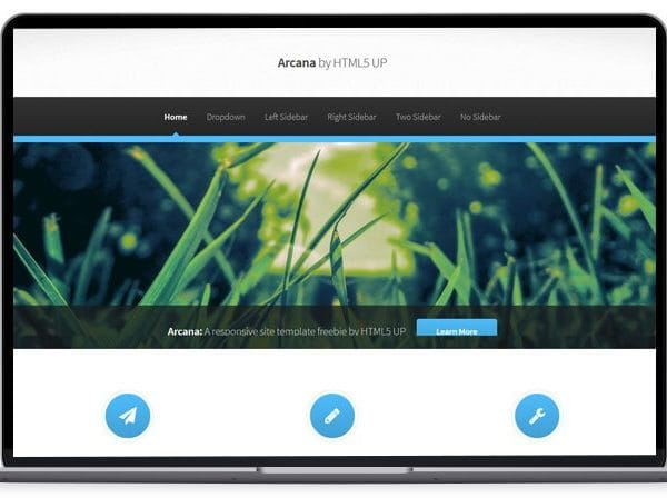 Arcana - Attractive HTML5 Site Template