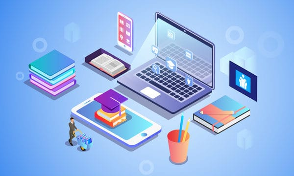 2 5d Learn Know How Online Education Illustration