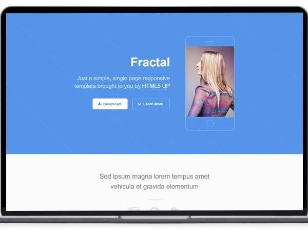 Fractal - App Landing Page Template