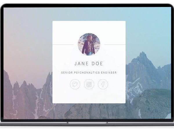 Identity - Resume Website Template