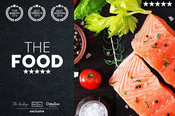 The FOOD 65 Photoshop Actions THC (Turbo Premium Space)