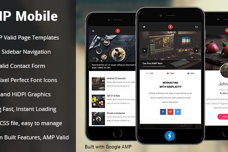 Google AMP Mobile Template