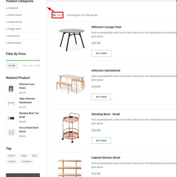 Modern Kitchen HTML Template