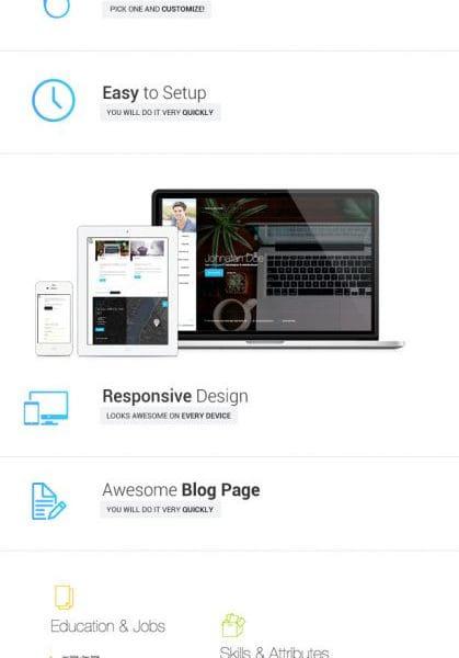 Moje. - Responsive Personal Resume vCard Template