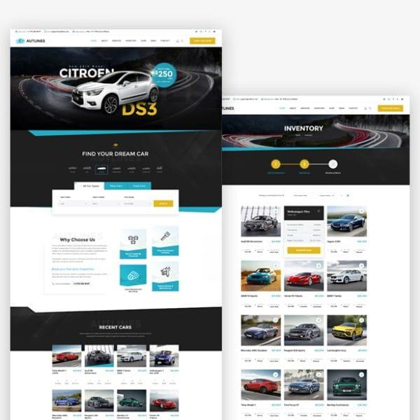 Autlines - Autodealer HTML Template