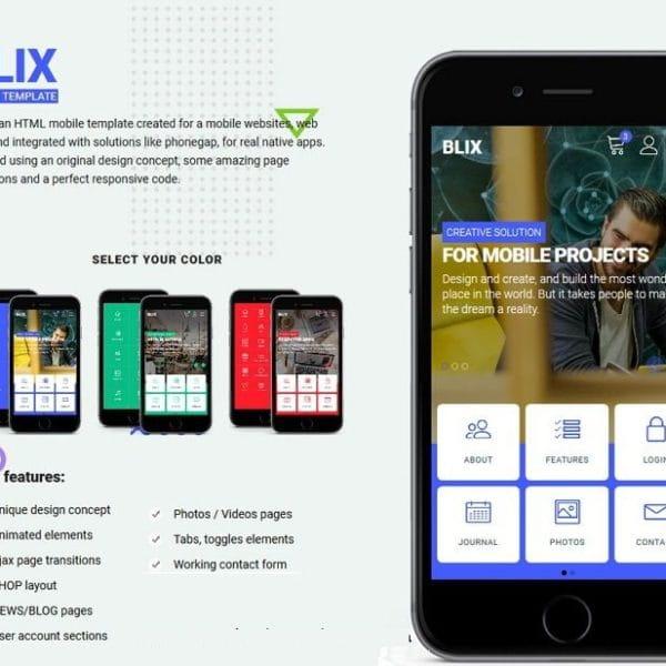 Blix - HTML Mobile Template