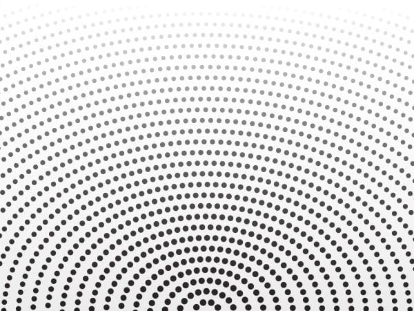 Abstract Halftone Dots Background With Circular Style