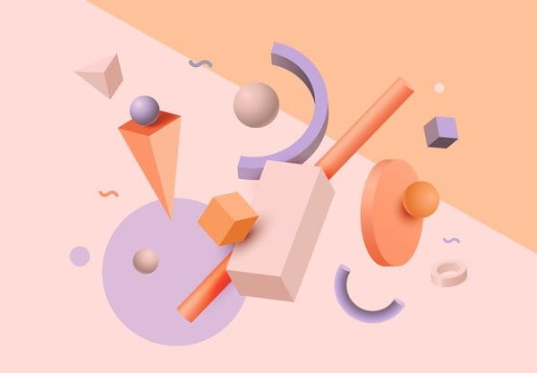 Abstract geometric shapes (Turbo Premium Space)