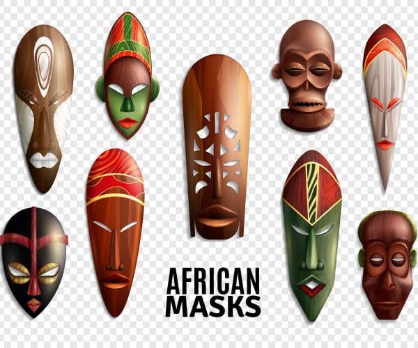African masks transparent