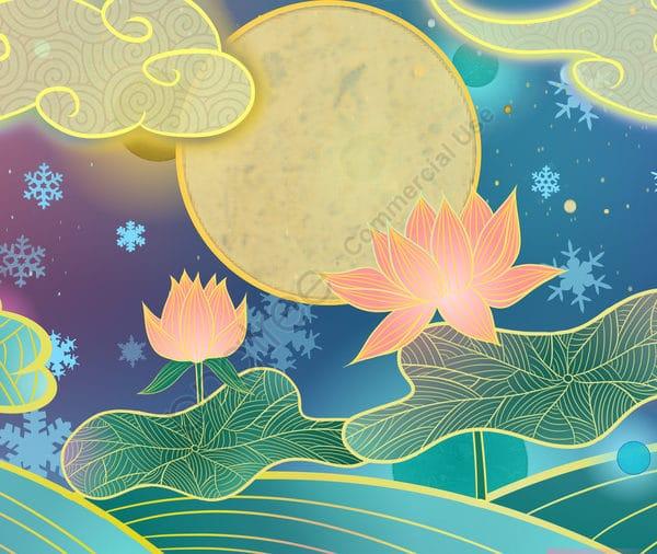 Ambilight Series Chinese Style Traditional Lotus Illustration Illustration (Turbo Premium Space)