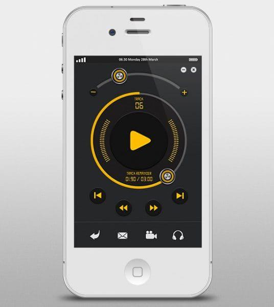 Apple music player user interface (Turbo Premium Space)