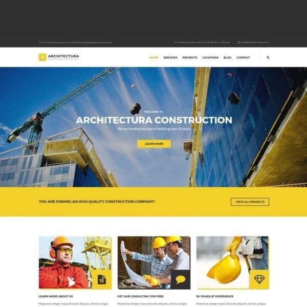 Architectura - Construction HTML Template