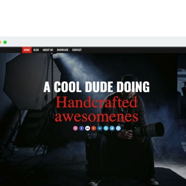 Awesome Responsive Onepage Portfolio & Blog