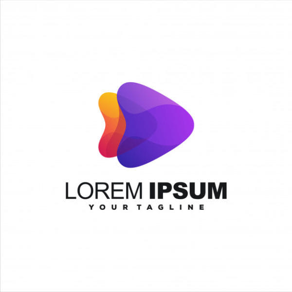 Awesome play gradient logo (Turbo Premium Space)