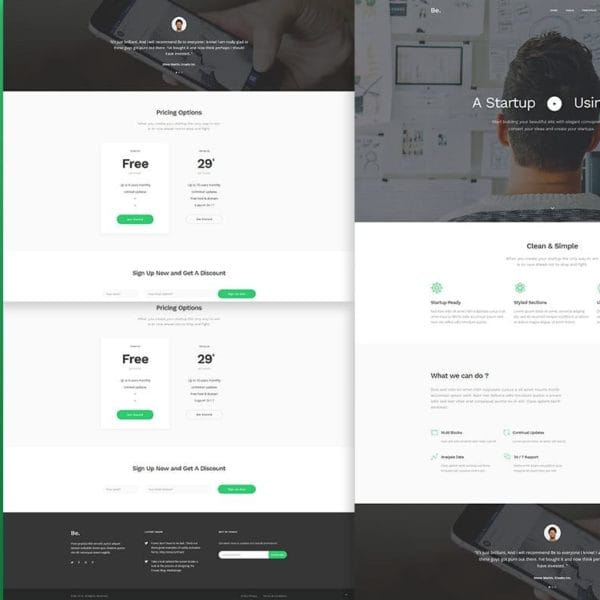 Be - Startup Business HTML Template