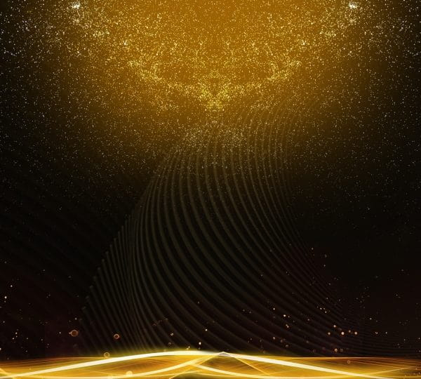 Black Gold Background Golden Streamer Commendation Assembly (Turbo Premium Space)