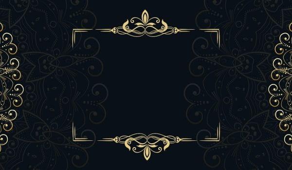 Black Gold Wedding Invitation Card Europe And America