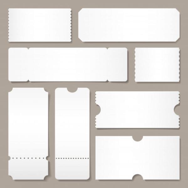 Blank ticket template. festival (Turbo Premium Space)