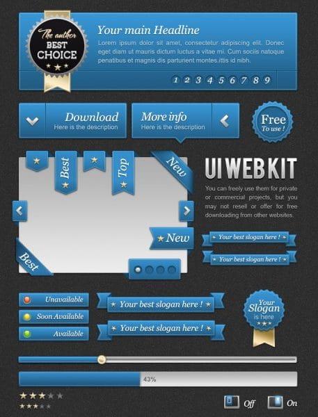 Blue template web kit (Turbo Premium Space)