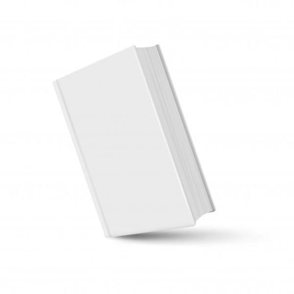 Book mockup white realistic