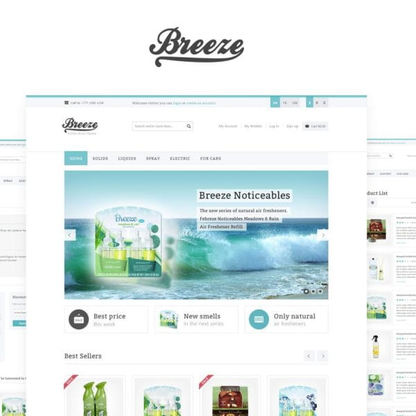 Breeze — HTML5 & CSS3 eCommerce Template