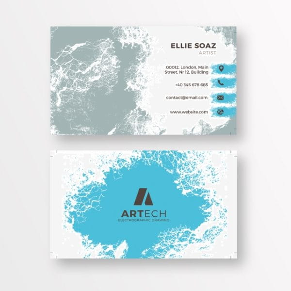 Bright Business Card With A Face