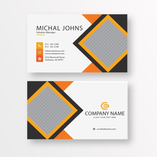 Business Card With Details