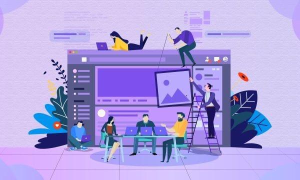 Business Office Meeting Illustration Illustration