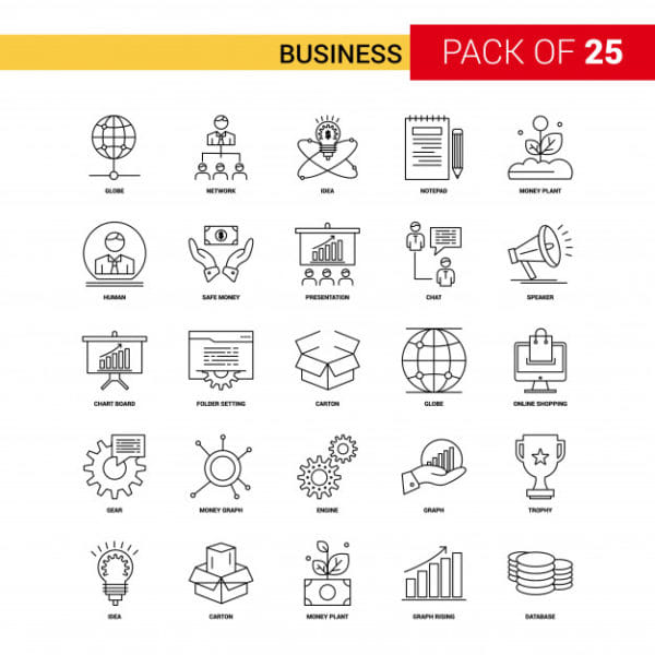 Business black line icon (Turbo Premium Space)