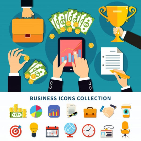 Business flat icons collection (Turbo Premium Space)