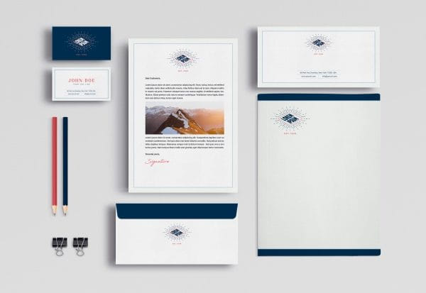 Business stationery mock up (Turbo Premium Space)