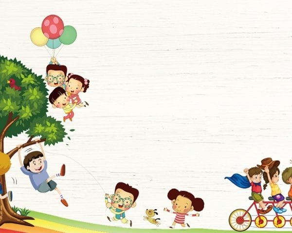 Cartoon Cute Childrens Day Holiday Background Design (Turbo Premium Space)