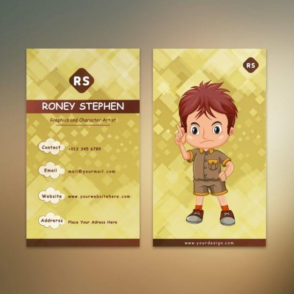 Cartoon Designer Business Card