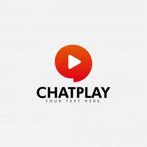 Chat play logo design