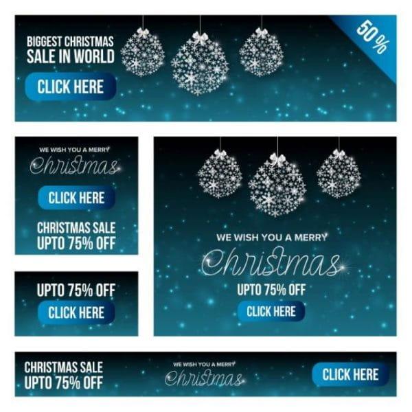 Christmas Sale Banner Set (Turbo Premium Space)