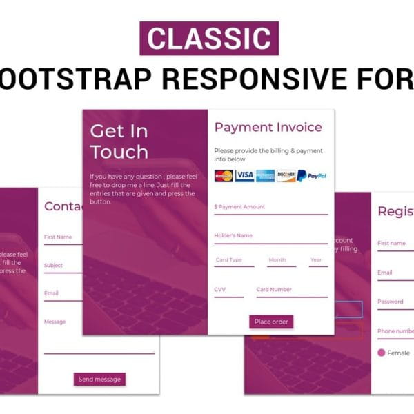 Classic - Bootstrap Responsive Form