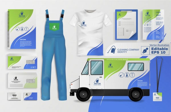 Cleaning company identity