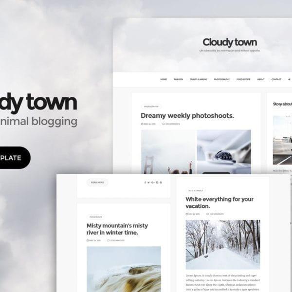 Cloudy Town - Clean Minimal Blog HTML Template