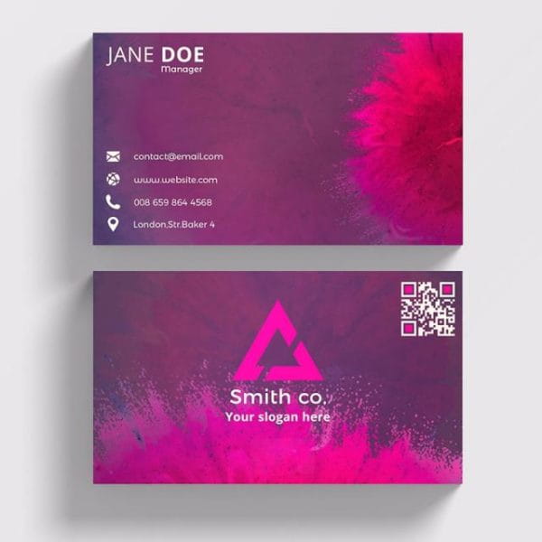 Color Abstract Business Card