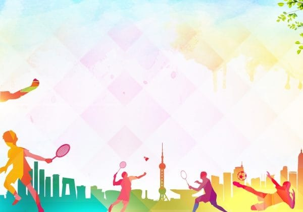 Color Tennis Sport Advertising Background