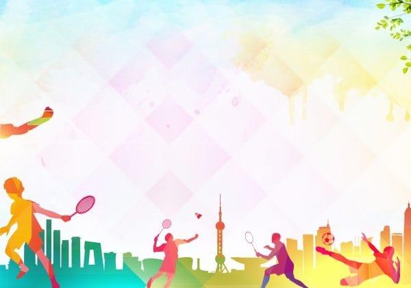 Color Tennis Sport Advertising Background (Turbo Premium Space)