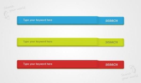 Colored search bars web